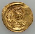 Ancients:Byzantine, Ancients: Justinian I (AD 527-565). AV solidus (4.48 gm)....