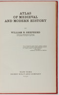 Books:Maps & Atlases, William R. Shepherd. Atlas of Medieval and Modern History. Holt, 1932. First edition, first printing. Spine sunned. ...