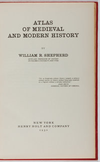 William R. Shepherd. Atlas of Medieval and Modern History. Holt, 1932. First edition, first pri