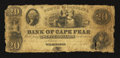 Obsoletes By State:North Carolina, Wilmington, NC- Bank of Cape Fear at Salem Branch $20 Mar. 1, 1849 G420 Pennell 280. ...