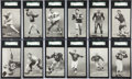 Football Cards:Sets, 1948-52 W468 Football Exhibit SGC-Graded Partial Set (29) With Nine Pop One Short Prints!...