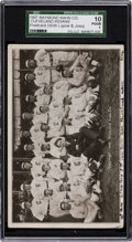 Baseball Cards:Singles (Pre-1930), 1907 Cleveland Indians Team Issued Post Card SGC 10 Poor 1 - Raymond Kahn Co. Image....