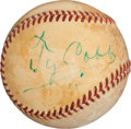 Autographs:Baseballs, 1950's Ty Cobb, Rogers Hornsby & Stan Musial SignedBaseball....