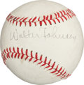 Autographs:Baseballs, Circa 1940 Walter Johnson Single Signed Baseball....