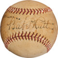 Autographs:Baseballs, Circa 1940 Babe Ruth Single Signed Baseball....