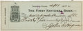 Autographs:Checks, 1920 Honus Wagner Signed Check....
