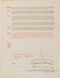 Autographs:Others, 1929 Eddie Moore Brooklyn Dodgers Player's Contract Signed byWilbert Robinson....