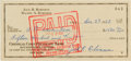 Autographs:Checks, 1958 Jackie Robinson Signed Check....