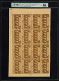 Fractional Currency:First Issue, Fr. 1281 25¢ First Issue Full Sheet of Sixteen PMG Superb Gem Unc67 EPQ.. ...