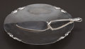 Silver Holloware, Continental:Holloware, A CARL POUL PETERSEN SILVER TAZZA AND PIE SERVER . Carl PoulPetersen, Montreal, Canada, circa 1945. Marks: HAND MADE, STE...(Total: 2 Items)
