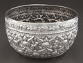 Silver Holloware, Continental:Holloware, AN INDIAN SILVER BOWL . Maker unknown, probably Bombay, India,circa 1900. Unmarked. 10 inches diameter (25.4 cm). 19.78 tro...