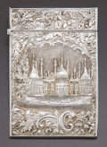 Silver Holloware, British:Holloware, A NATHANIEL MILLS VICTORIAN SILVER CARD CASE . Nathaniel Mills,Birmingham, England, circa 1837-1838. Marks: (lion passant),...