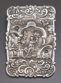 Silver Holloware, British:Holloware, A NATHANIEL MILLS GEORGE IV SILVER CARD CASE . Nathaniel Mills,Birmingham, England, circa 1824-1825. Marks: (lion passant),...