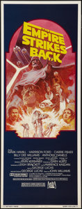 """Movie Posters:Science Fiction, The Empire Strikes Back (20th Century Fox, R-1982). Insert (14"""" X36""""). Science Fiction.. ..."""