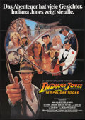 "Movie Posters:Adventure, Indiana Jones and the Temple of Doom (Paramount, 1984). German A1(23.5"" X 33""). Adventure.. ..."