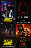"""Movie Posters:Animation, Star Wars: Clone Wars and Others Lot (Warner Brothers, 2007). Mini Posters (4) (11"""" X 17"""") Advance and Regular Style. Animat... (Total: 4 Items)"""