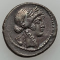 Ancients:Ancient Lots  , Ancients: ROMAN REPUBLIC. L. Flaminius Chilo (43 BC) - P. ClodiusM.f. Turrinus (42 BC). Lot of two (2) AR denarii.... (Total: 2coins)
