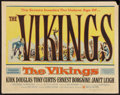 "Movie Posters:Action, The Vikings (United Artists, 1958). Half Sheet (22"" X 28"") Style A.Action.. ..."