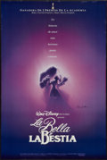"Movie Posters:Animation, Beauty and the Beast (The Walt Disney Co., 1991). Autographed Spanish Language One Sheet (27"" X 40""). Animation.. ..."
