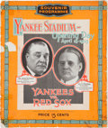 Baseball Collectibles:Publications, 1923 Yankee Stadium Grand Opening Official Program....