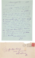 Autographs:Letters, 1931 Honus Wagner Handwritten Signed Letter to Max Carey....