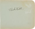Autographs:Others, 1927 New York Yankees Partial Team Signed Autograph Album....