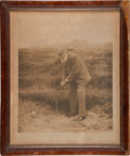 Golf Collectibles:Autographs, 1908 Old Tom Morris Signed Photographic Print....