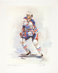 Hockey Collectibles:Others, 1985 Mark Messier Signed Steve Csorba Lithograph....