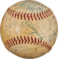 Autographs:Baseballs, 1960 Pittsburgh Pirates & New York Yankees Signed Baseball....