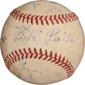 Autographs:Baseballs, 1948 World Series Umpires Signed Baseball....