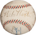 Autographs:Baseballs, 1932 New York Yankees Partial Team Signed Baseball with Ruth,Gehrig....