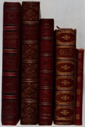 Books:Literature Pre-1900, Group of Five Decoratively Bound Books of Poetry. Various,1838-1921. Various editions. All in good or better condition....(Total: 5 Items)