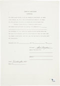 Golf Collectibles:Autographs, 1940-88 Ben Hogan Signed Contracts Lot of 3....