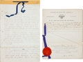 Autographs:Statesmen, [Telegraph]. William H. Seward Document Signed...