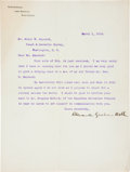 Autographs:Inventors, Alexander Graham Bell Typed Letter Signed....