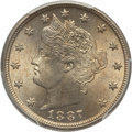 Liberty Nickels: , 1887 5C MS64 PCGS. CAC. PCGS Population (201/109). NGC Census:(156/94). Mintage: 15,263,652. Numismedia Wsl. Price for pro...