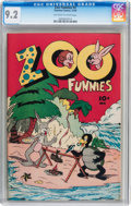 Golden Age (1938-1955):Funny Animal, Zoo Funnies #2 (Charlton, 1945) CGC NM- 9.2 Off-white to white pages....