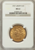 Liberty Eagles: , 1907 $10 MS61 NGC. NGC Census: (5311/16554). PCGS Population(2760/10867). Mintage: 1,203,973. Numismedia Wsl. Price for pr...