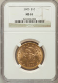 Liberty Eagles: , 1900 $10 MS61 NGC. NGC Census: (1396/4524). PCGS Population(767/2682). Mintage: 293,960. Numismedia Wsl. Price for problem...