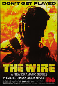 "The Wire (HBO Films, 2002). One Sheets (2) (27"" X 40"") SS Advance Yellow and Blue Styles. Crime. ... (Total: 2..."