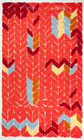 Prints, KATHERINE PORTER (American, b. 1941). Untitled Abstract(Herringbone design). Lithograph. Ed. 101/144. 64 x 39 inches(1...