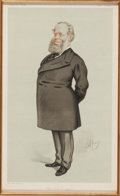 Prints, 'THE COURT OF APPEAL,' SIR RICHARD BAGGALLA. 19th century. 8x 13-1/2 inches (20.3 x 34.3 cm). Vanity Fair Chromolithogr...