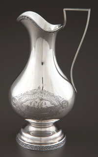 A WILLIAM GALE SILVER PITCHER William Gale & Son, New York, New York, 1862 Marks: W. GALE & SON, STERLING