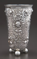 Silver Holloware, Continental:Holloware, A HANAU SILVER RENAISSANCE STYLE BEAKER . Unidentified maker,Hanau, Germany, circa 1875. Marks: (butterfly), 930,(pseu...
