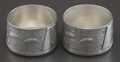 Silver Holloware, American:Open Salts, A PAIR OF WHITING SILVER JAPANESE PATTERN OPEN SALTS .Whiting Manufacturing Company, New York, New York, circ... (Total:2 Items)