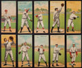 Baseball Cards:Lots, 1911 T201 Mecca Double Folders Collection (10). ...