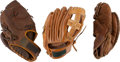 Baseball Collectibles:Others, Ted Williams(2), and Eddie Waitkus store Model Glove Lot Of 3. ...