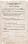 Baseball Collectibles:Others, 1951 Dolf Luque Signed Players Contract....