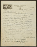 Baseball Collectibles:Others, 1936 Connie Mack Handwritten, Signed Letter....