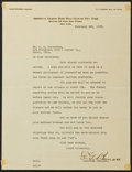 Baseball Collectibles:Others, 1923 Ed Barrow Signed Letter....